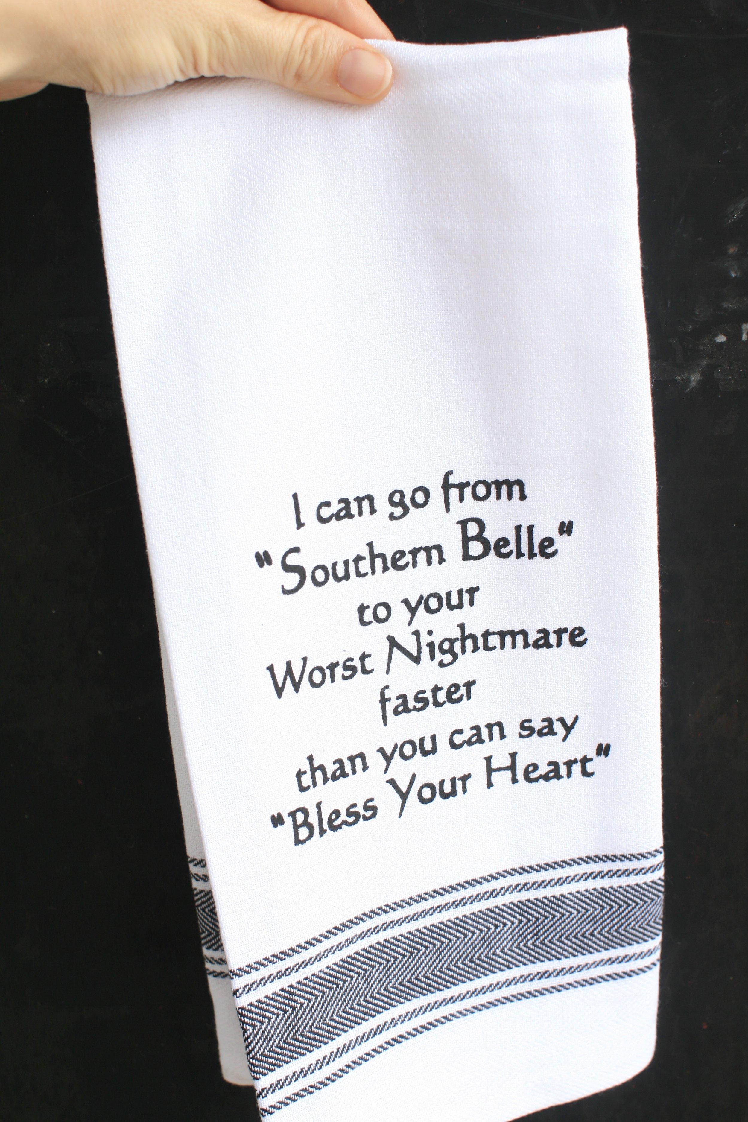 Funny Tea Towel Gift SallyMack Chapel Hill