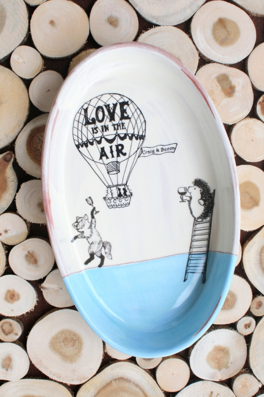 Custom wedding gift pottery SallyMack Chapel Hill