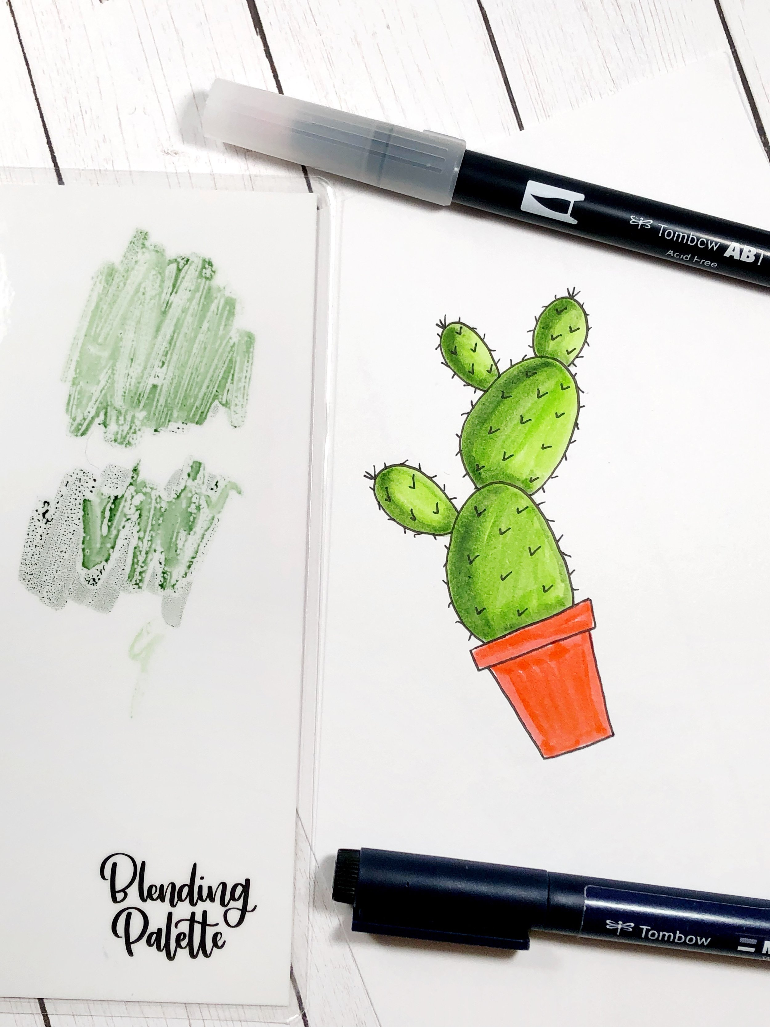 drawing with dual brush pens