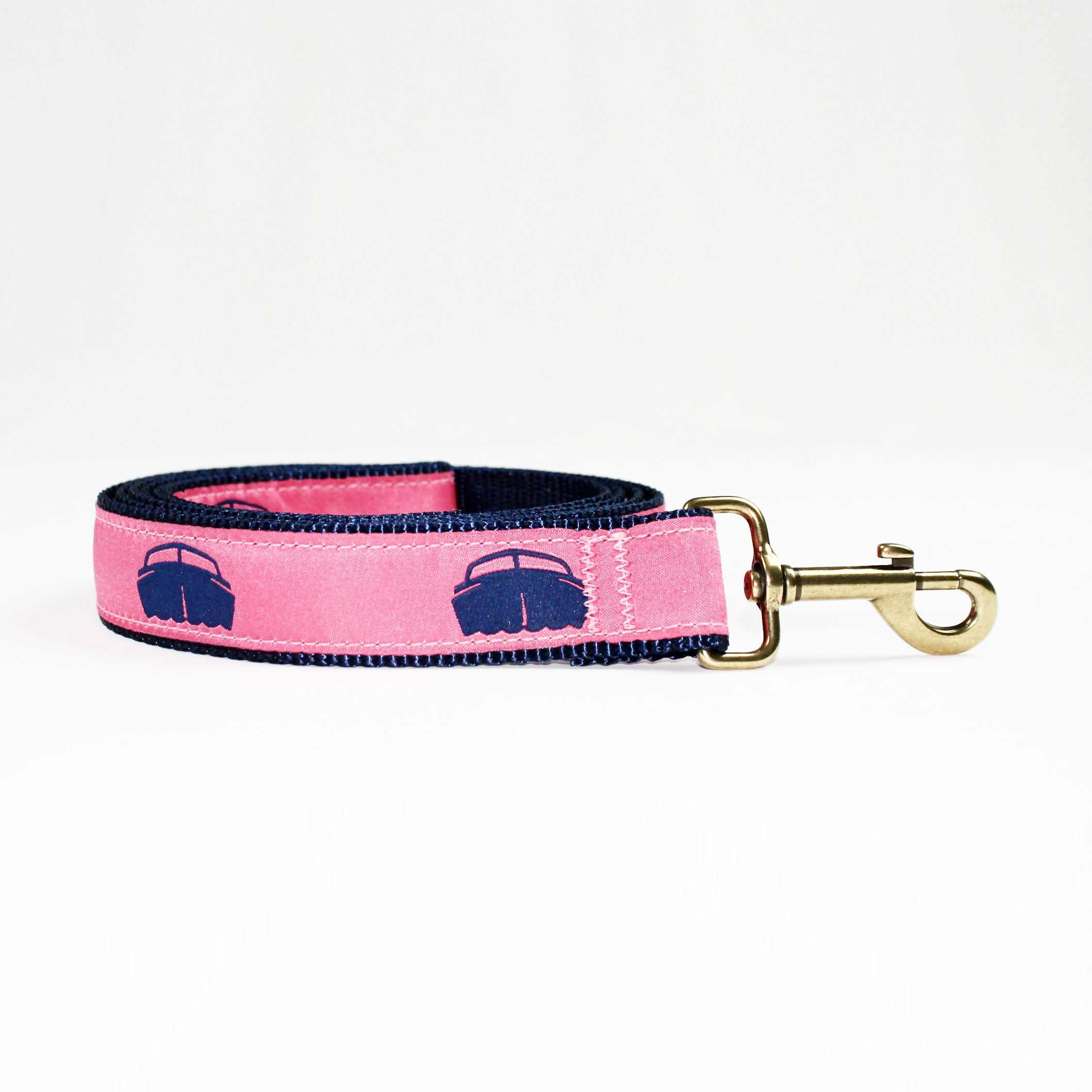 Dog Lead - Navy w/Pink $36