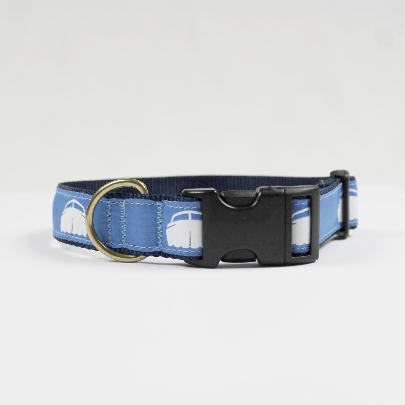 Dog Collar - Navy w/Blue $28