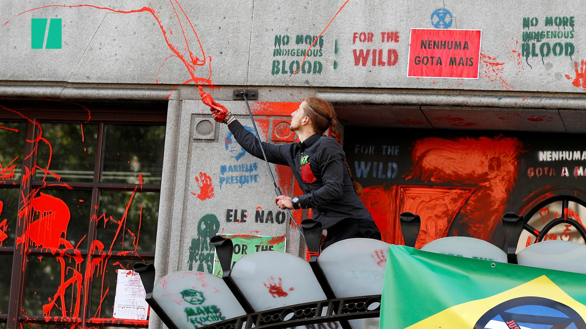 Protests at the Brazilian embassy