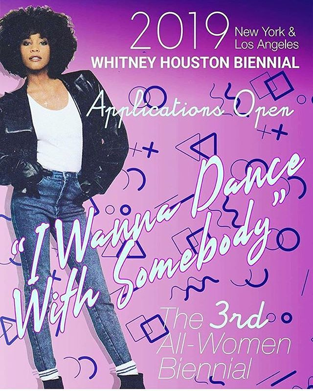 Hey folx! Apply for the 2019 Whitney Houston Biennial, an all women art biennial with work in all visual art fields and 2 shows, one in NY and the other in Los Angeles. Open to all female identified artists. Apply for free by tonight, and $15 through March 1,2019. @whitneyhoustonbiennial  and whitneyhoustonbiennial.com The application is totally quick easy and you can submit up to 3 works and a 150 word bio. Good luck!