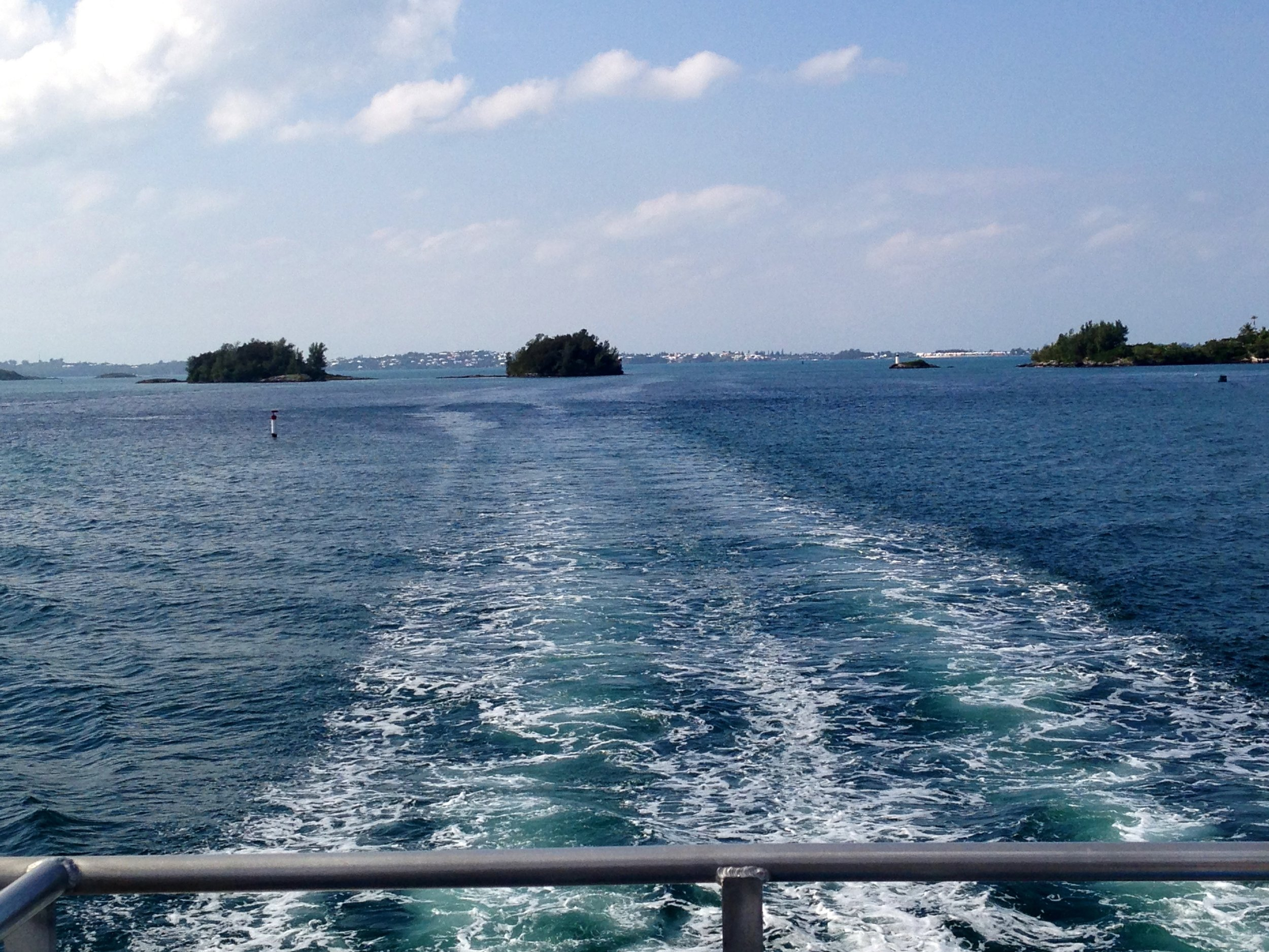 OUR VIEW FROM THE FERRY IN BERMUDA AS WE SAILED INTO HAMILTON EACH WEEK. USUALLY ON A DAY OFF.