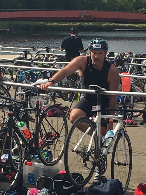 Sprint Triathlon Nine Months After Total Hip Replacement Surgery, September 2017.