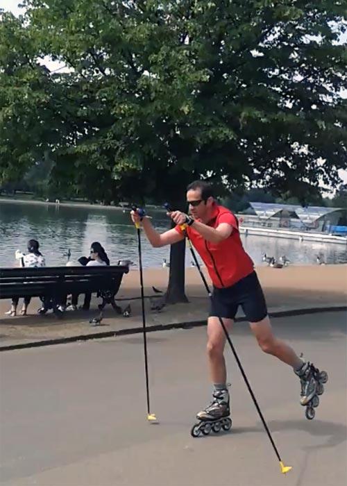 Raph inline skating!
