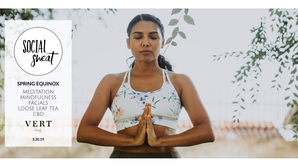 3.20.19 | MINDFULNESS MEDITATION AT VERT BEAUTY   Practice meditation in a calm sanctuary with others to begin the spring equinox
