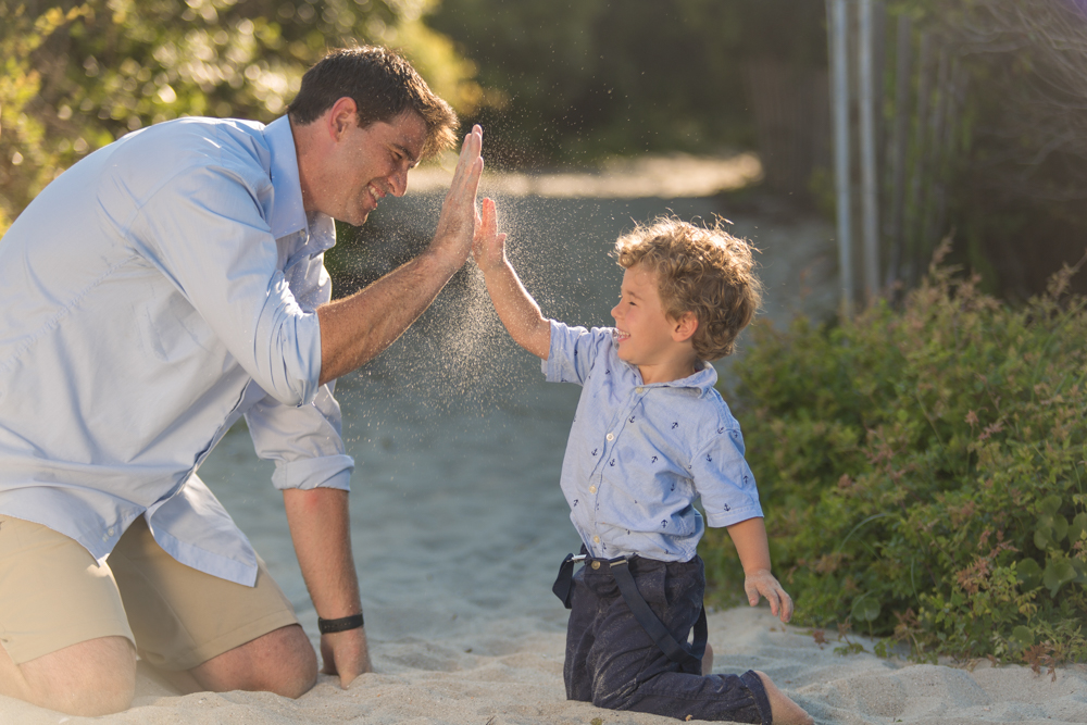 Father-Son-High-Five-Beach-Photography