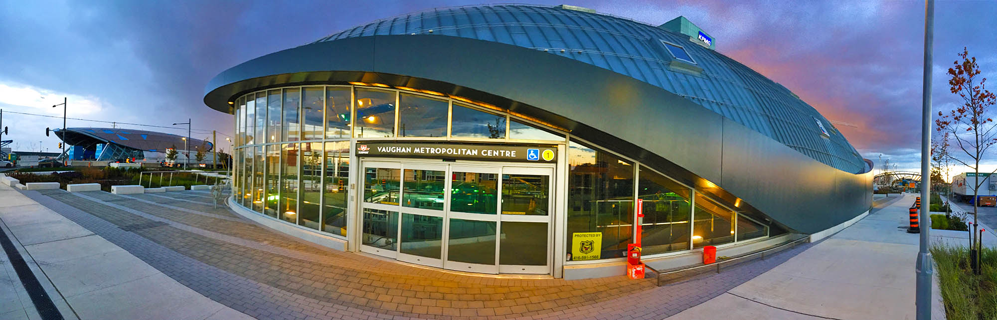 New VAUGHAN METROPOLITAN CENTRE TTC subway station, short 8 minute walk from the Training Center.