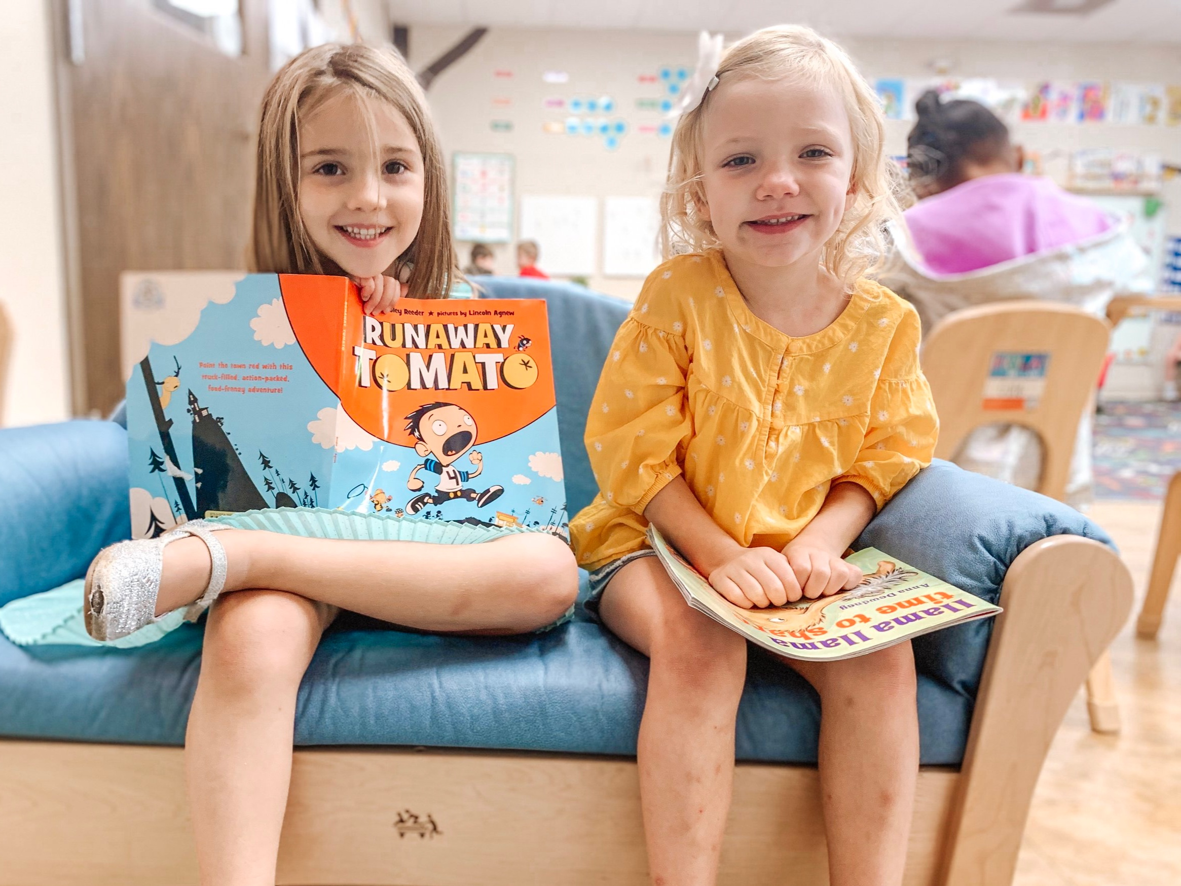 Literature-based curriculum - We place a large emphasis on phonics instruction, writing exploration, and story time. In addition to daily literature exercises, we also complete a CTOPP evaluation at the beginning on the school year, as well as Dibbles assessments throughout the school year.