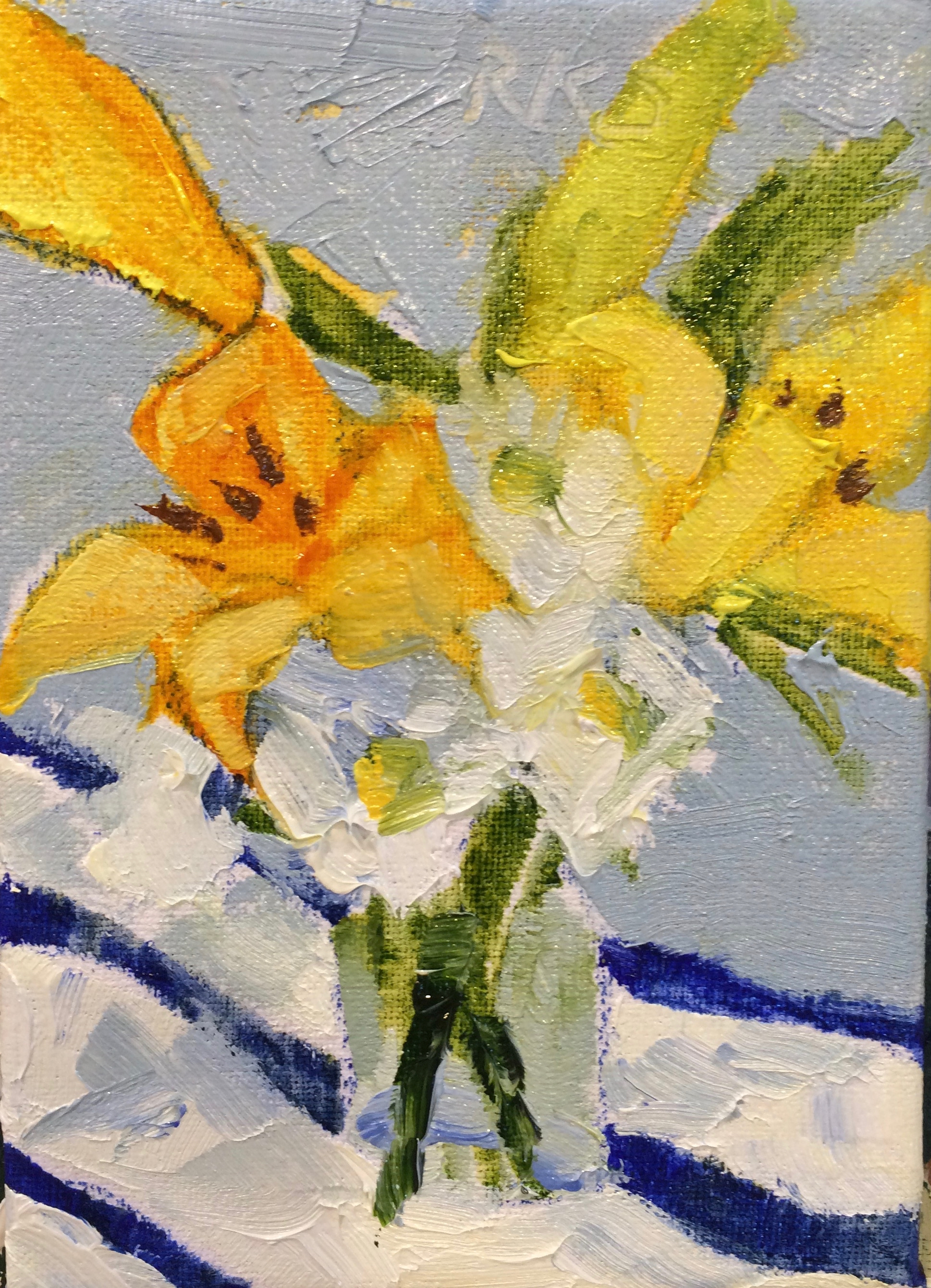 Lilies and Daisies, ACEO.jpg