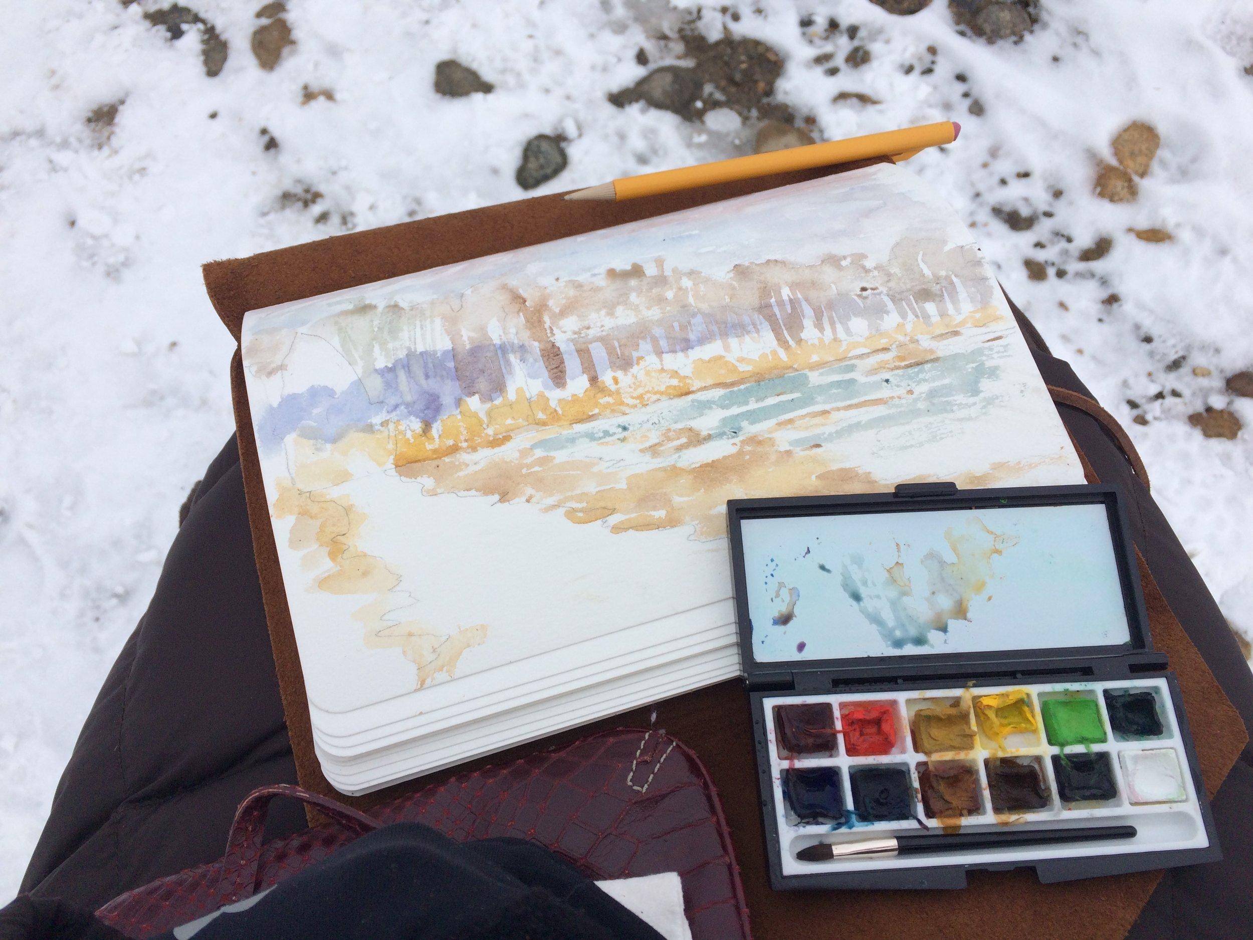 Barn Island, Snowy Day