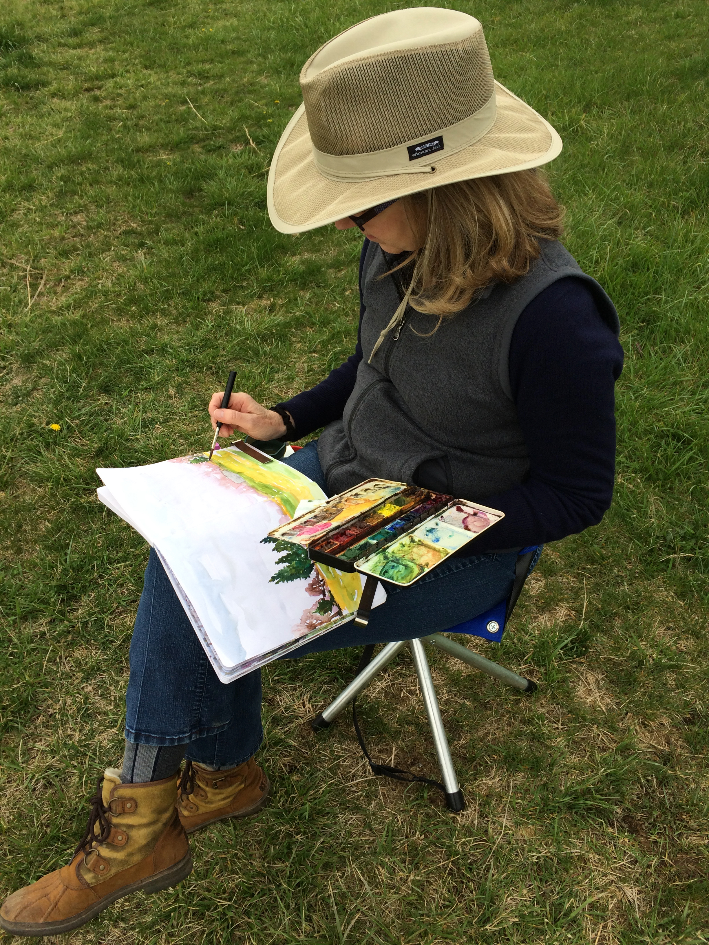 Painting out on location in Northern Virginia with the National Park Service.