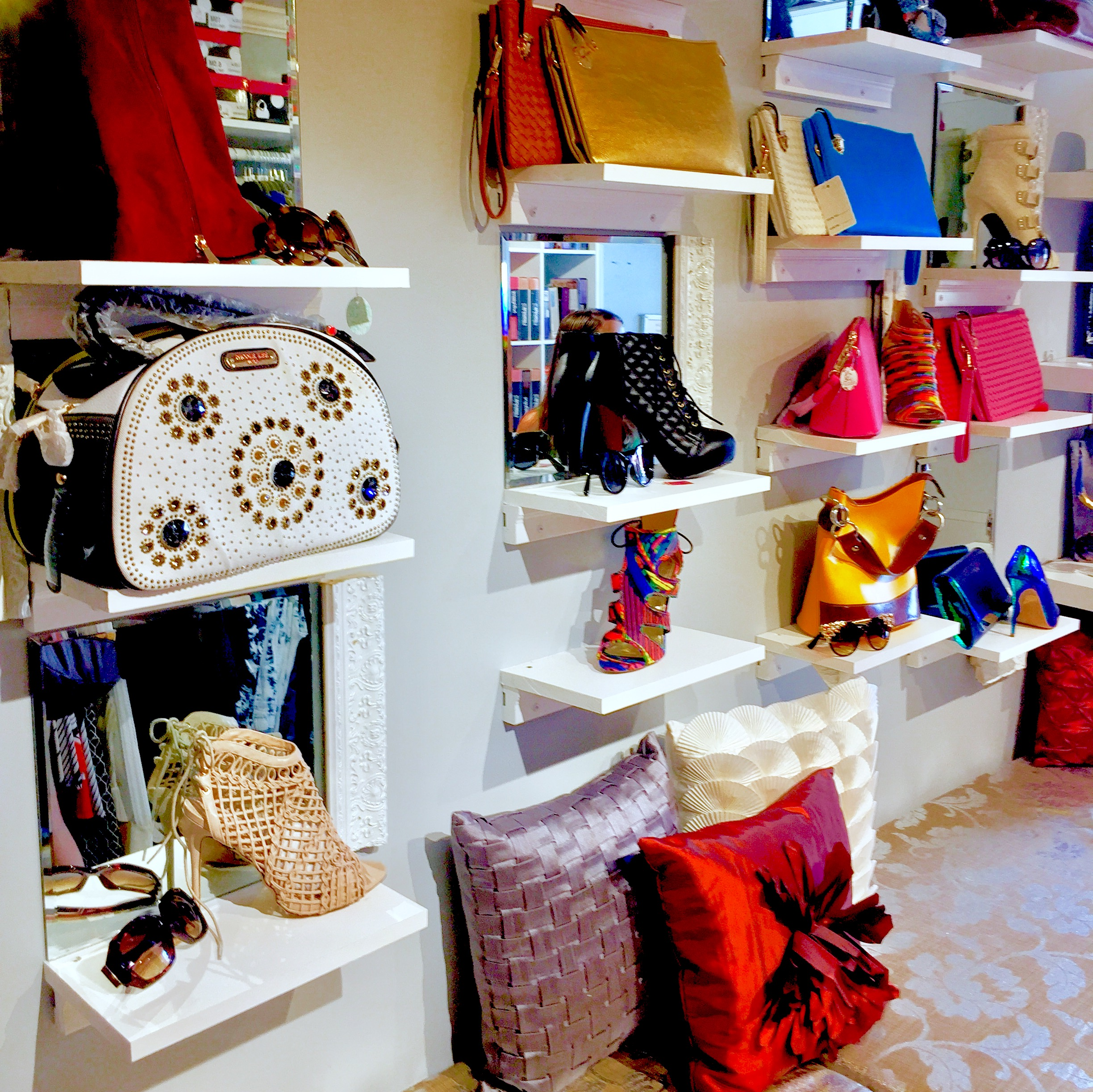 Inside the Epiphany Boutique Fashion Truck.