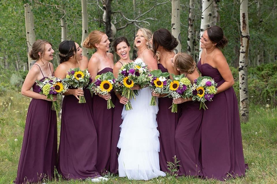 Aarica was a bridesmaid.
