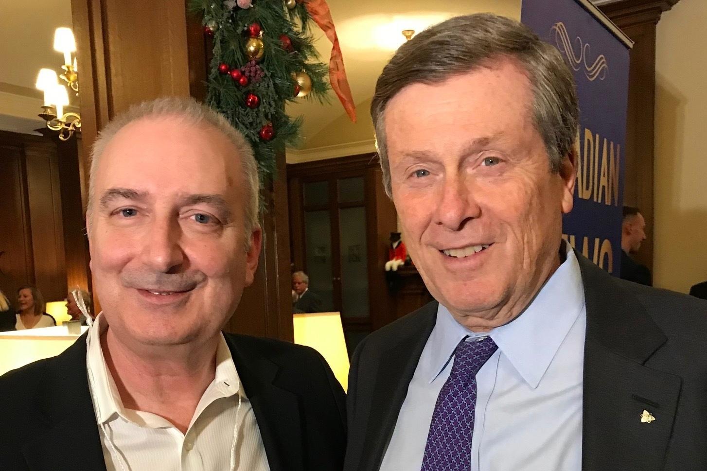 Richard Maxwell with John Tory