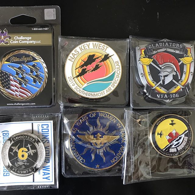 Air show coins. Key West #airshowkeywest #keywestairshow #airshow #keywest#naskeywest#blueangels #FA18 #Superhornet we went both days. The#sundowners did a great show#vfc111with the #F5.#A10was cool. 🌴