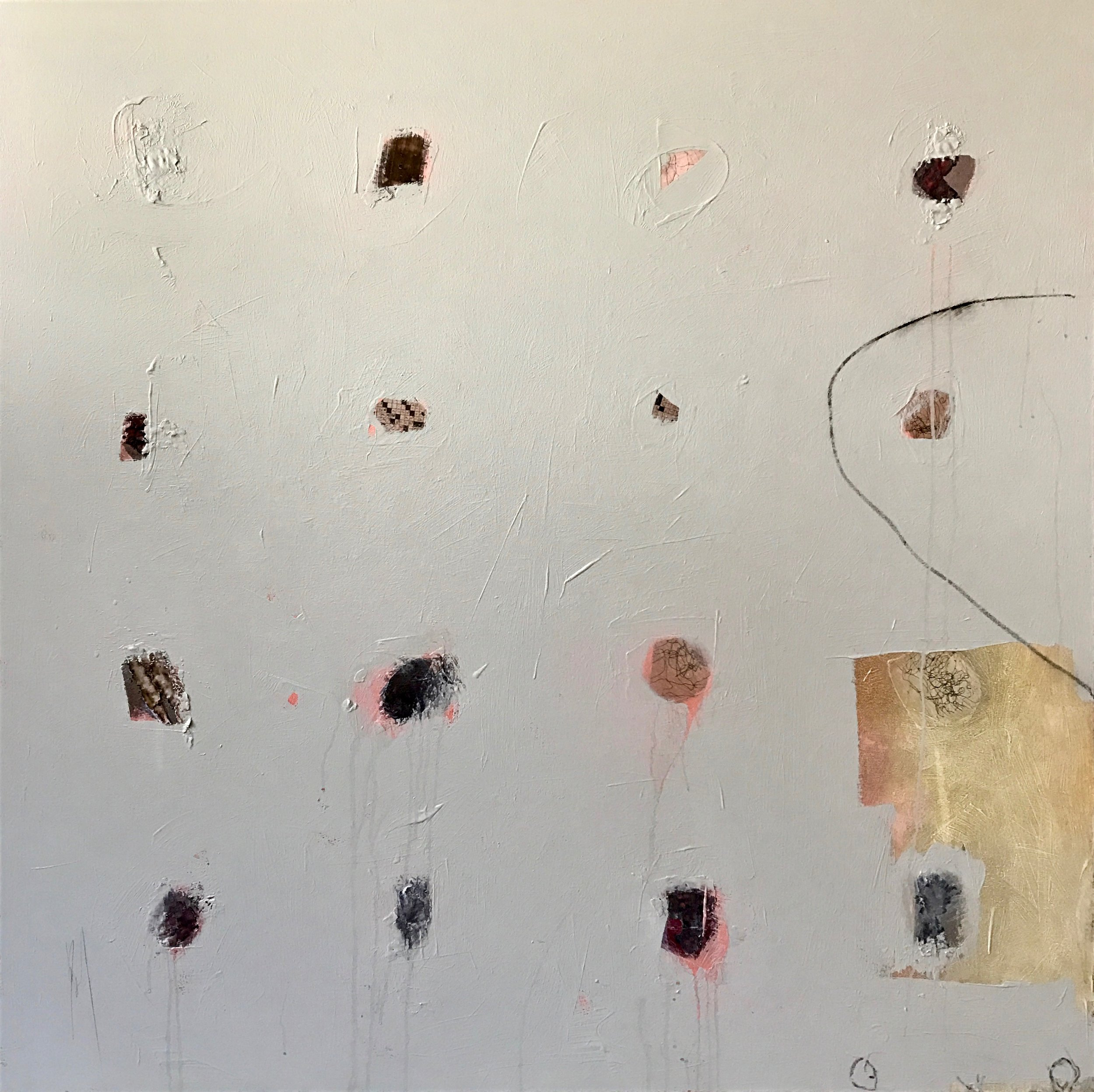THE TRAVELING JUGGLER | 50 x 50 inches | mixed media on canvas | 2019