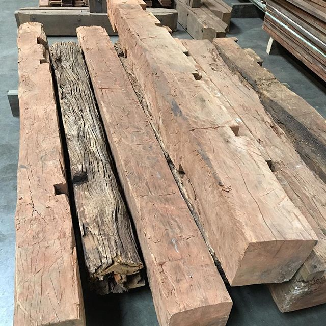 8X8 120 year old hand hewn peroba beams....someone is going to be really stoked to have these.