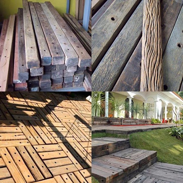 Cruzeta de poste is a great reclaimed wood for decking and other outdoor projects!