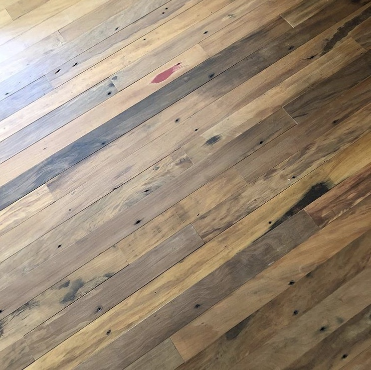 Reclaimed old cut peroba flooring