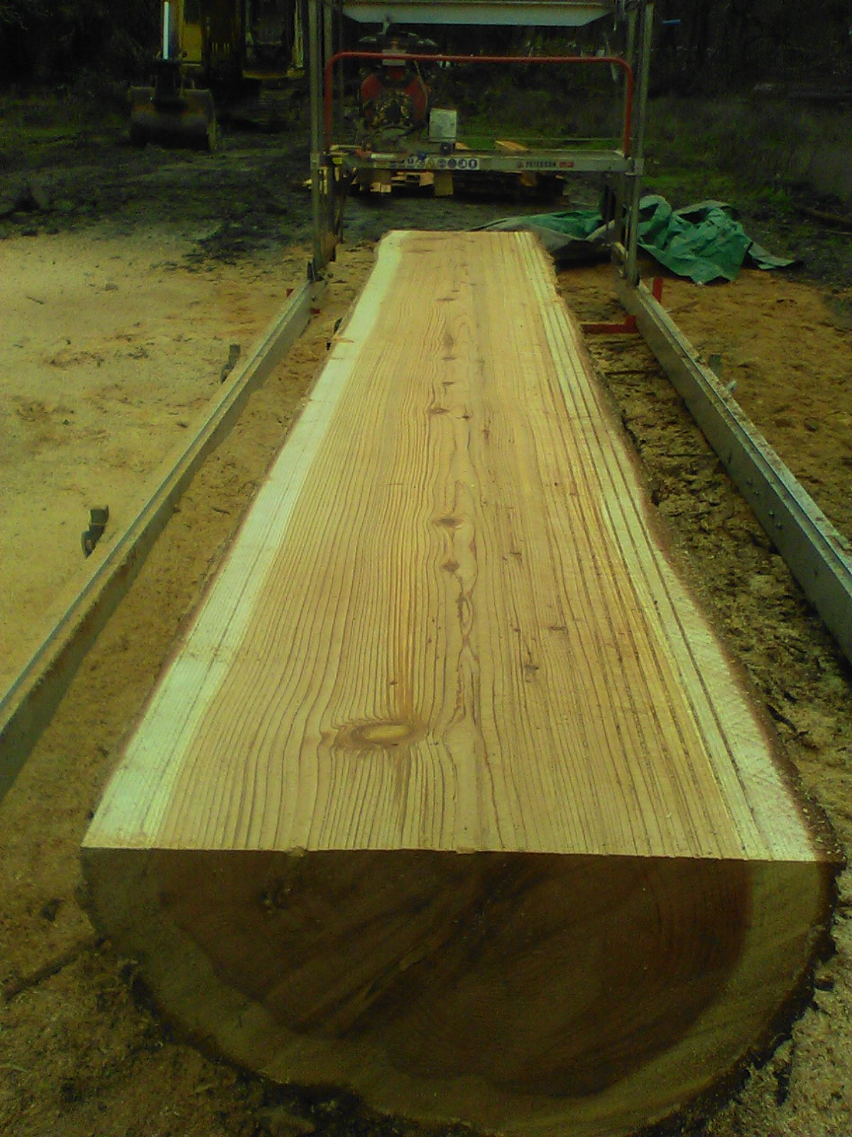 second growth redwood getting milled up for decking