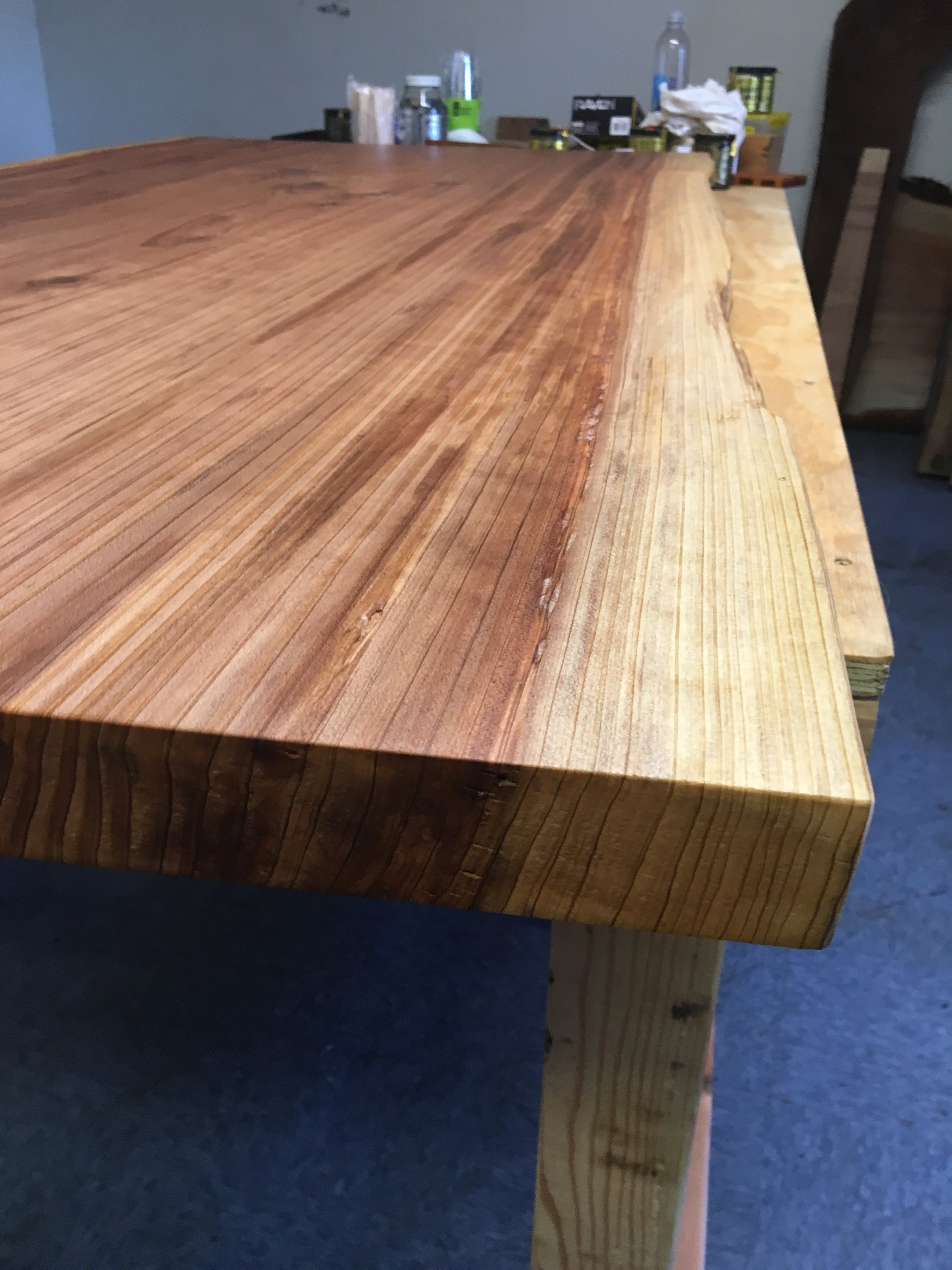 redwood dining table ready for it's new home in the mission