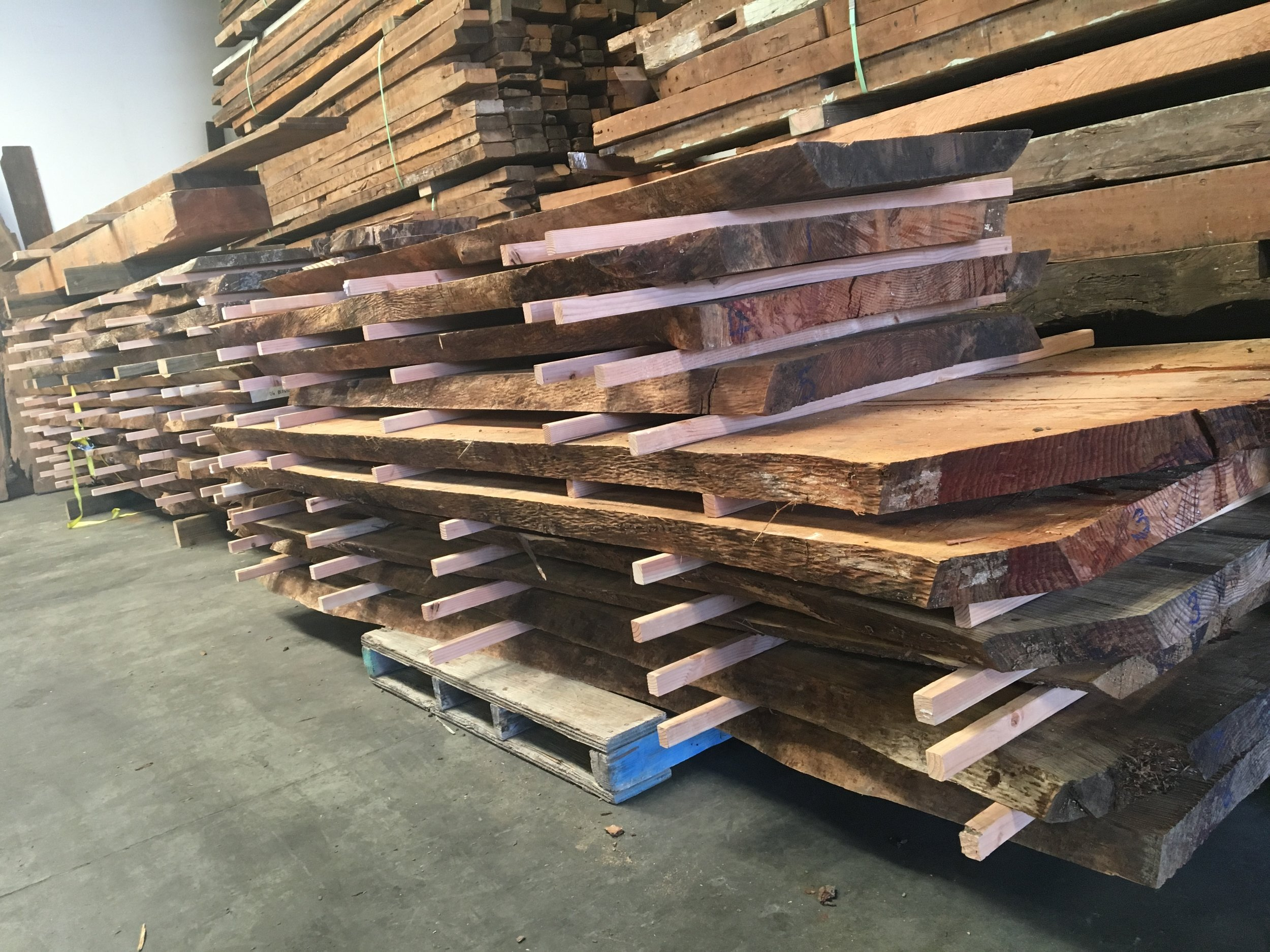 110 YEAR OLD SALVAGED DOUG FIR, 8-16' IN LENGTH