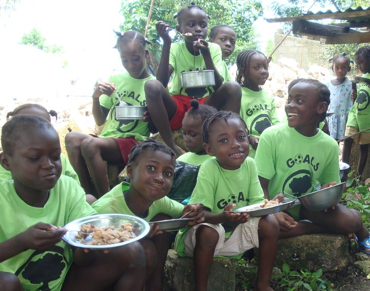 GOALS kids get a hot meal every day at camp