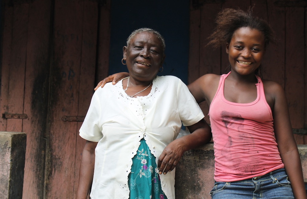 Meet Sofonie, 17, and her grandmother.