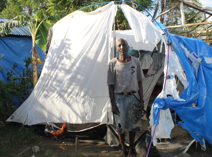 A GOALS dad living in tent after the earthquake