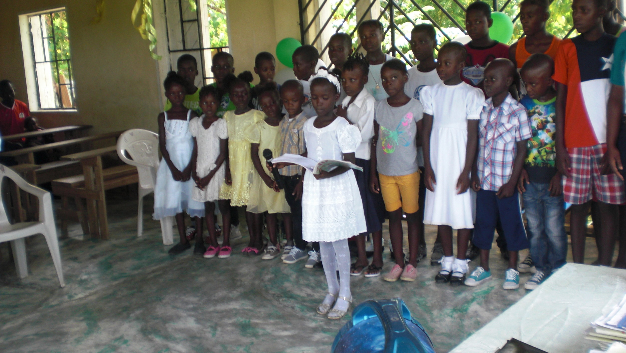 Graduation ceremony for the literacy students in Destra