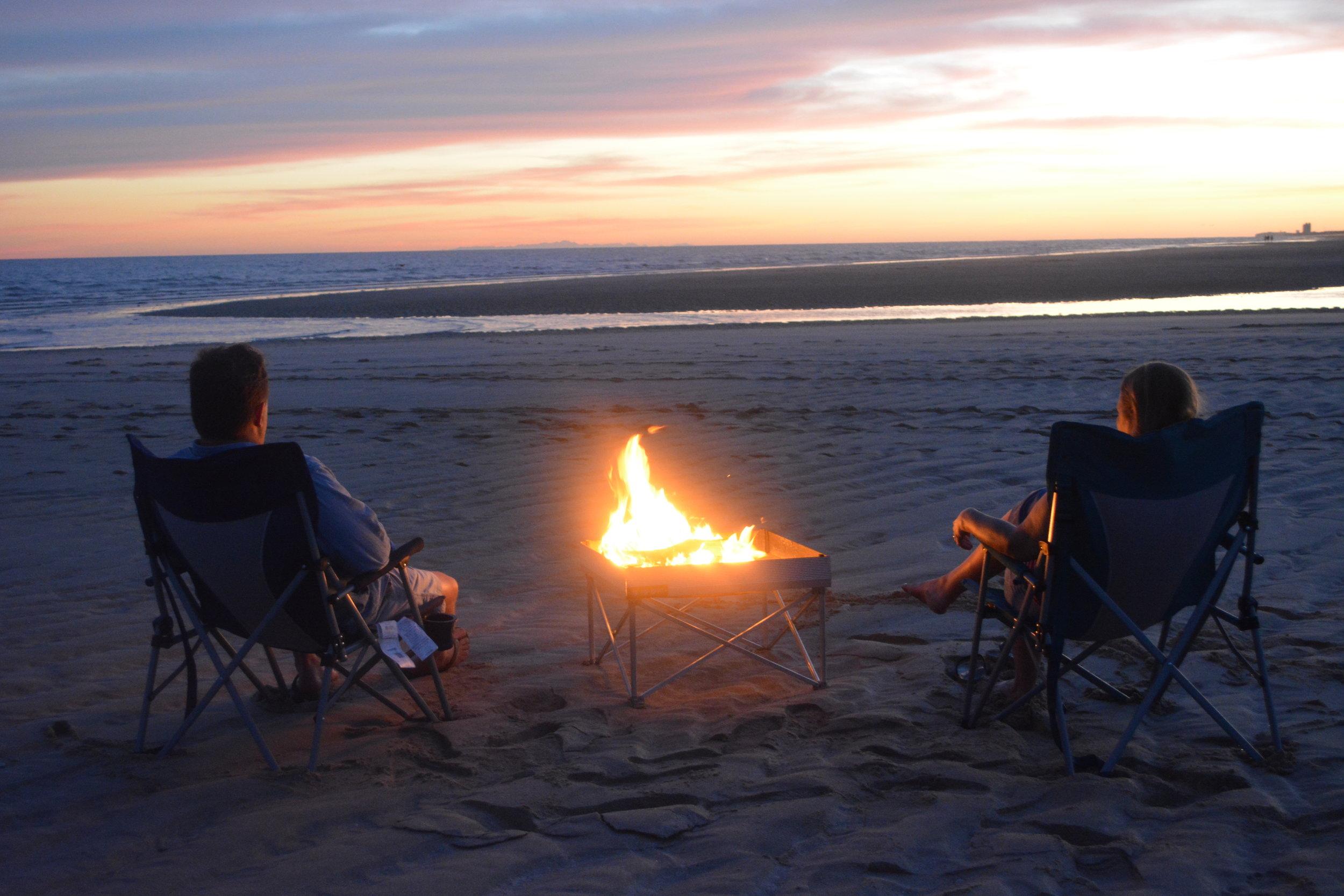 PopUp Pit Beach couple sunset.JPG