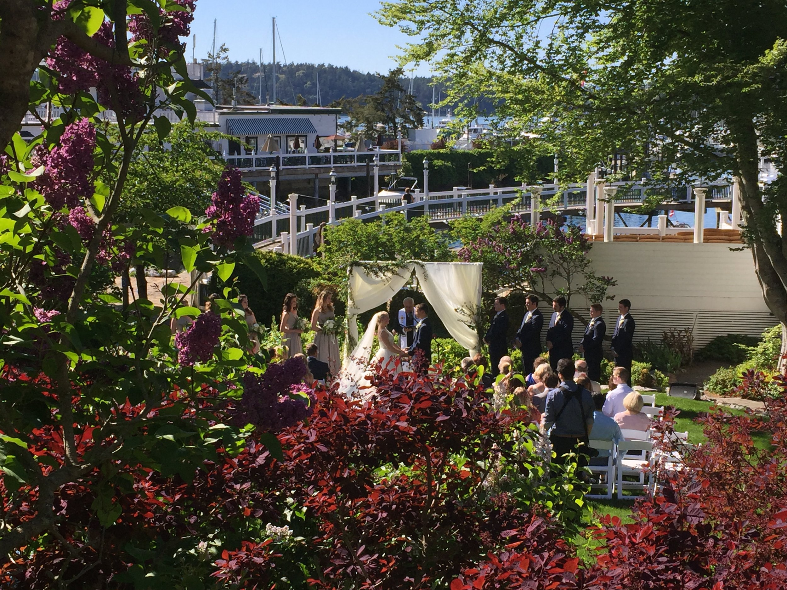 Ceremony at   Roche Harbor
