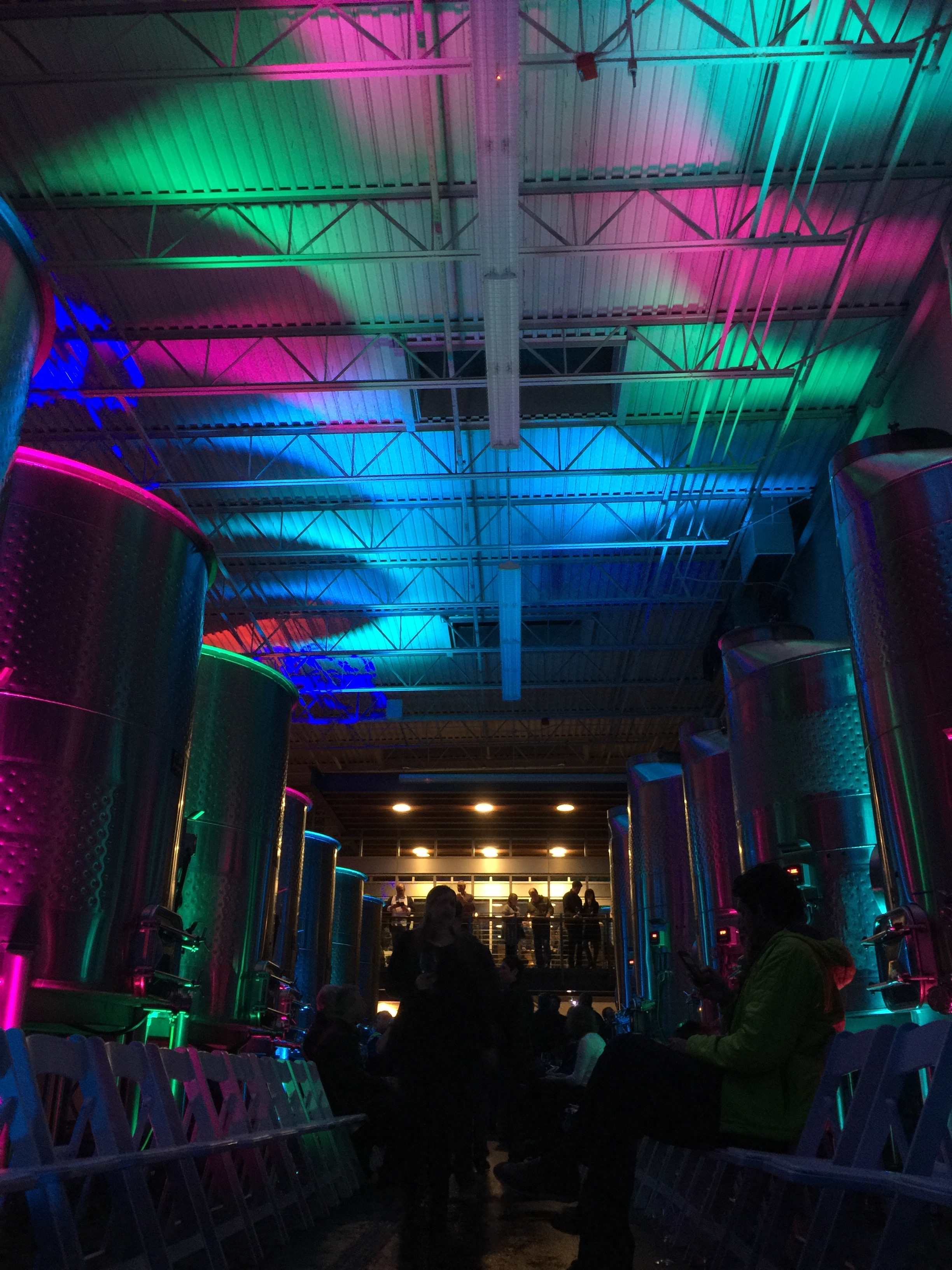 Uplights with custom colors @   Novelty Hill - Januik Winery   (Woodinville, WA)