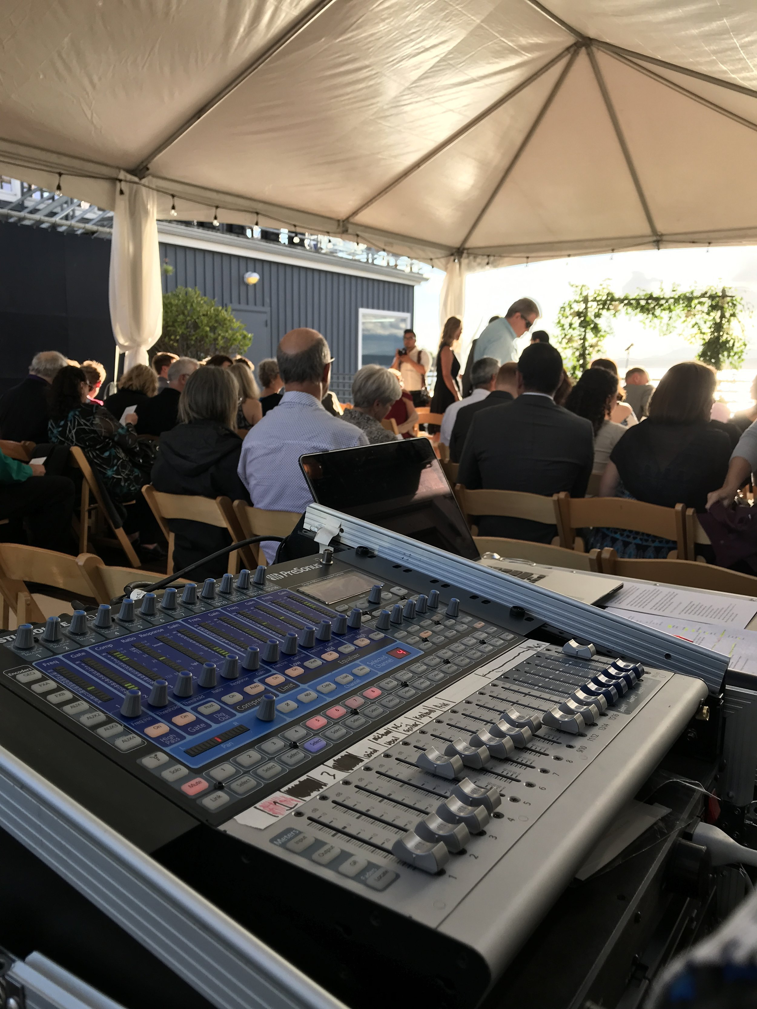 Our Digital mixer and Wireless Mic's on rental for a wedding ceremony