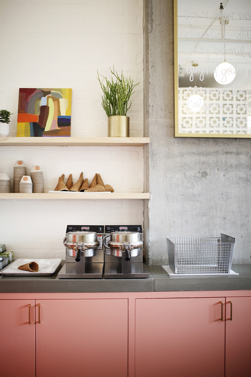 A FRESH PALETTE - Authenticity and simplicity took the lead as Katie developed the fresh, clean palette,finishes and patterns you see throughout the space.