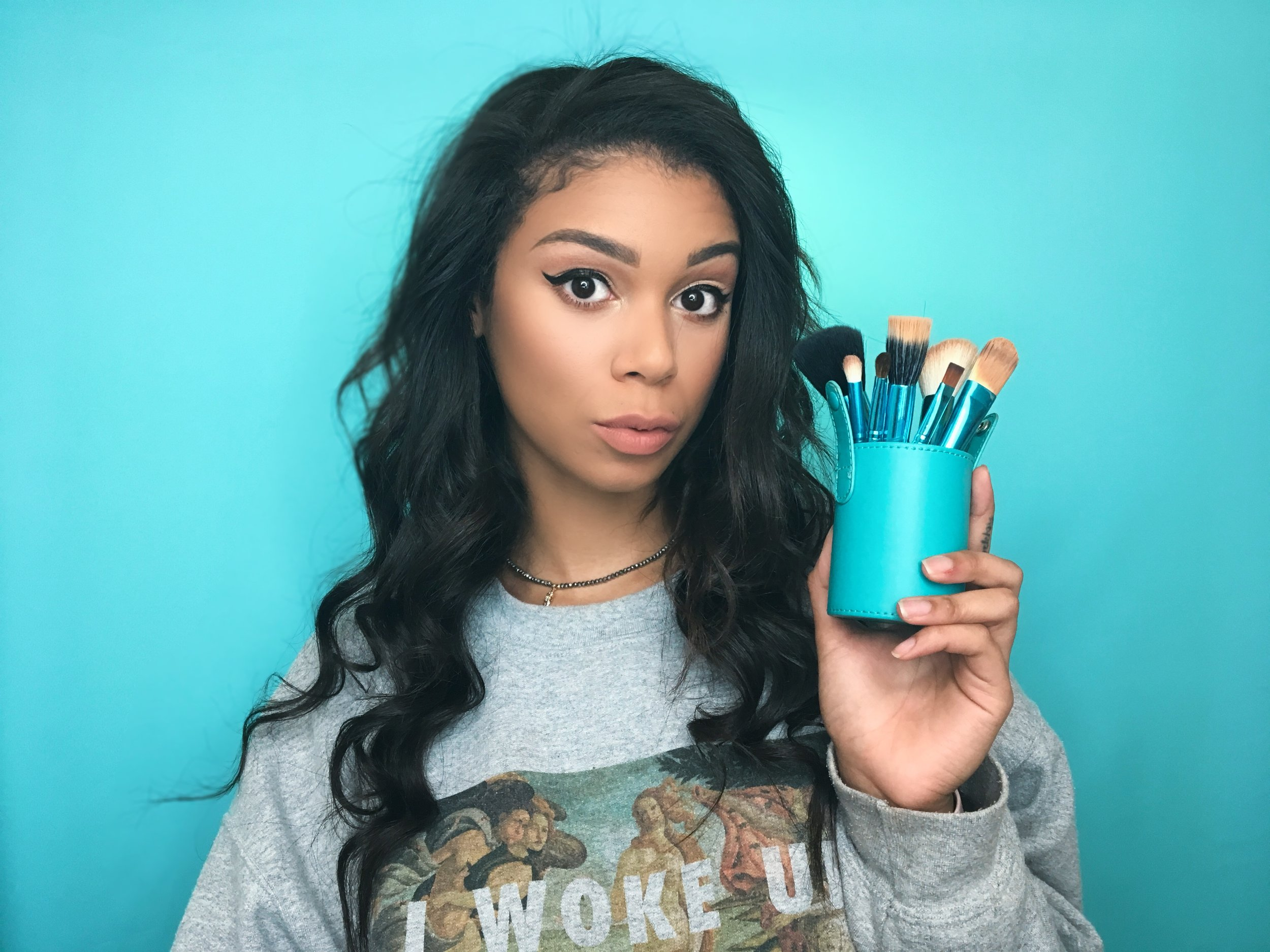 - 5. BRUSHESOf COURSE you can't apply any of your makeup without a good set of makeup brushes! I prefer the Beau Claire Ocean Brushes because they come in a travel container and have a brush for every part of your makeup application! And if you use my coupon code