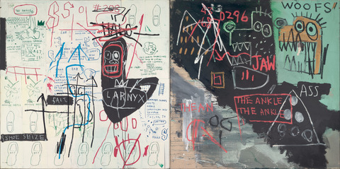 Diagram of the Ankle, by Jean-Michel Basquiat