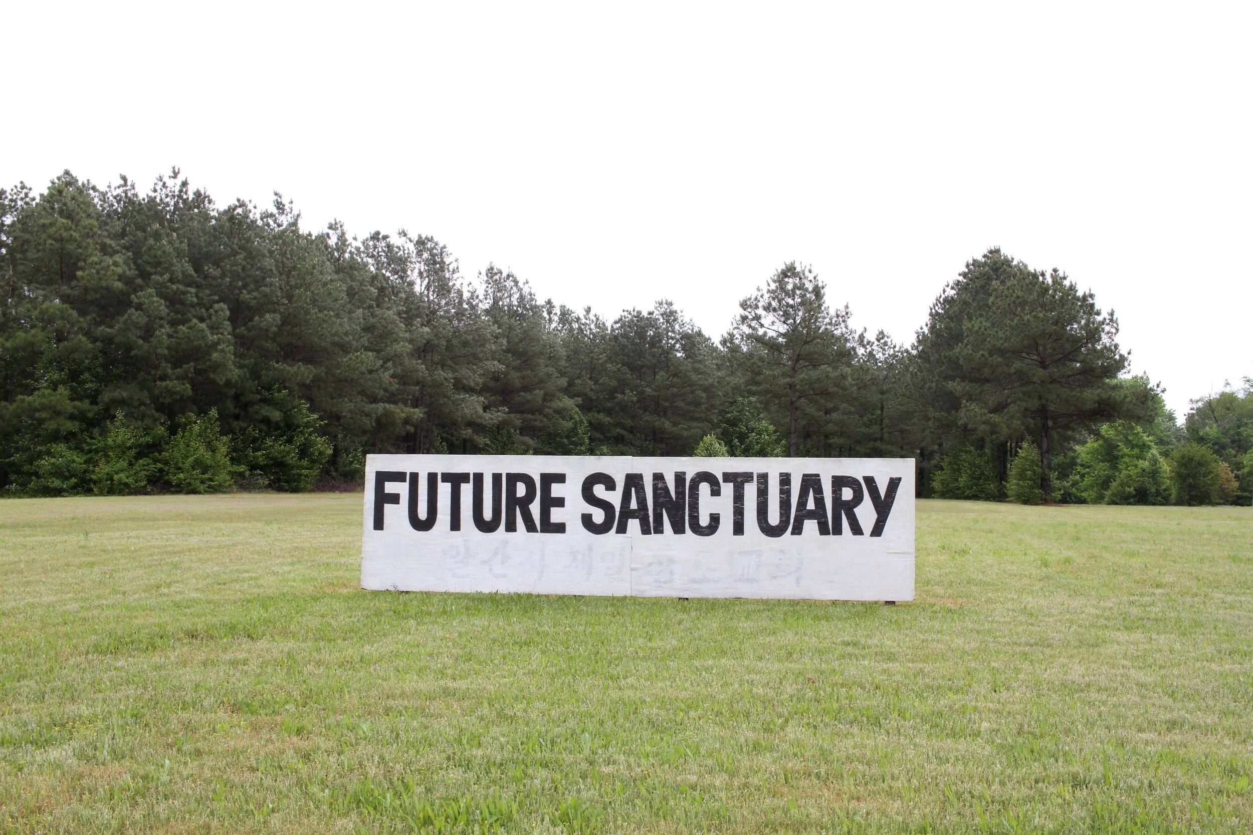 Future Sanctuary sign, 4700 block of S. University Ave.