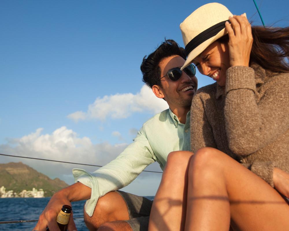Couple on yacht off diamondhead