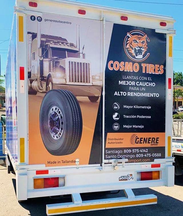 #CosmoTires x @genereautocentro in Quisqueya, Santo Domingo. Visit Génere Autocentro in #DominicanRepublic for a new set of #QualityTested tires.  #CosmoTires x @genereautocentro en Quisqueya, Santo Domingo. Visite Génere Autocentro en #DominicanRepublic para un nuevo set de neumáticos con #CalidadProbada.  #CosmoWorldwide #CosmoDealer #TruckArt #truckwrap #tires #tyres #llantas #tire #rubber #truck #semi #tread #ad #advertisement #worktruck #goodtires #buenollantas #graphicdesign #partners #business #worldwide #latinamerica #global #international