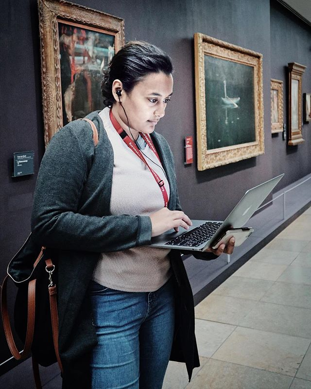 When your business partner captures what being a business owner really looks like. Standing in the beautiful Musée d'Orsay, but needing to whip out a laptop to fix a work issue. #noshame  I've had many strangers tell me to stop being on my phone or laptop when in public because they think I'm just on Facebook or talking to people, when I'm actually solving work problems or dealing with customer care. I wouldn't trade it for the world. It's a balance. [I mostly find this picture hilarious and just wanted to share it]   #travelblogger #digitalnomad #entrepreneur #flashesofdelight #justgoshoot #france #traveleurope  #doyoutravel #wonderfulplaces #openmyworld #bloggersofinstagram #thattravelblog #bloggerlife #travelpreneur #paris #eiffeltower #architecture #architexture #vsco #melanin #girlswithtattoos #parisfrance #paris🇫🇷 #canonm100 #canon #museedorsay #reallife