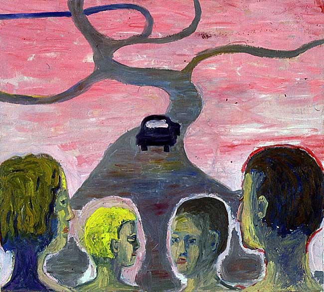Car Series, oil on canvas, 1998