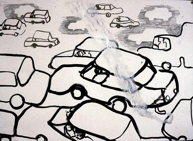 Car Series, mixed media, 1998