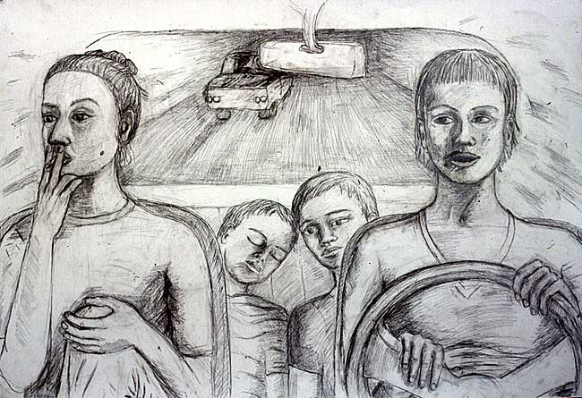 Car Series, pencil on paper, 1998