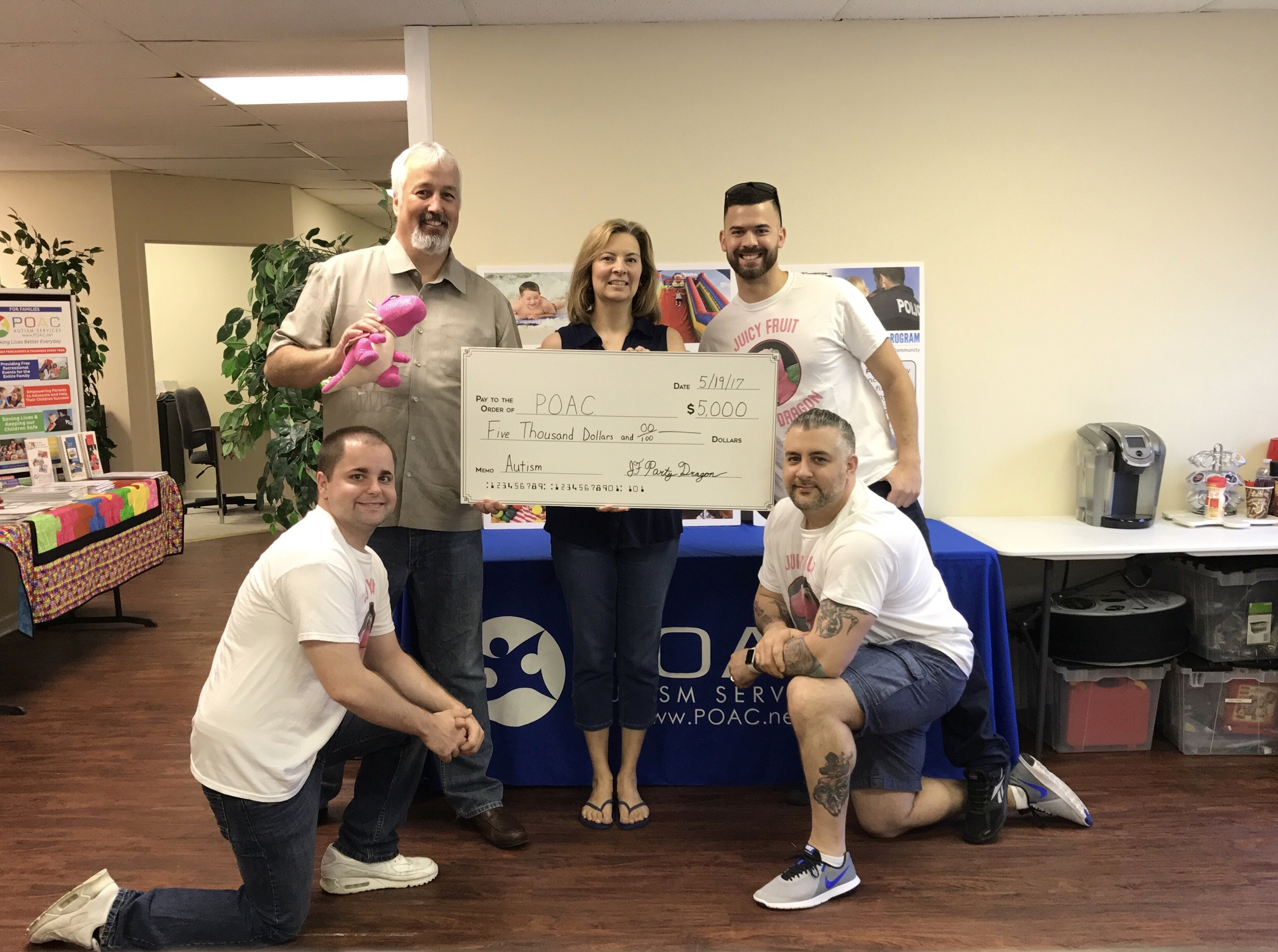 Our donation to POAC in Brick, NJ 5-19-17