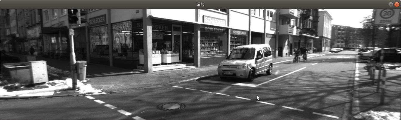 Left camera image