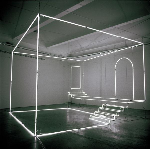 Light installation by Massimo Uberti