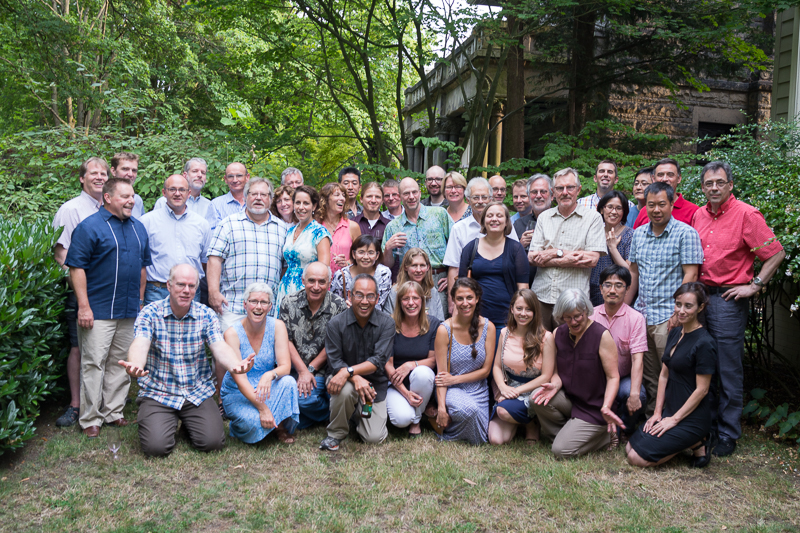 Bevanites gathered to honor Mike Bevan at his retirement August 2015